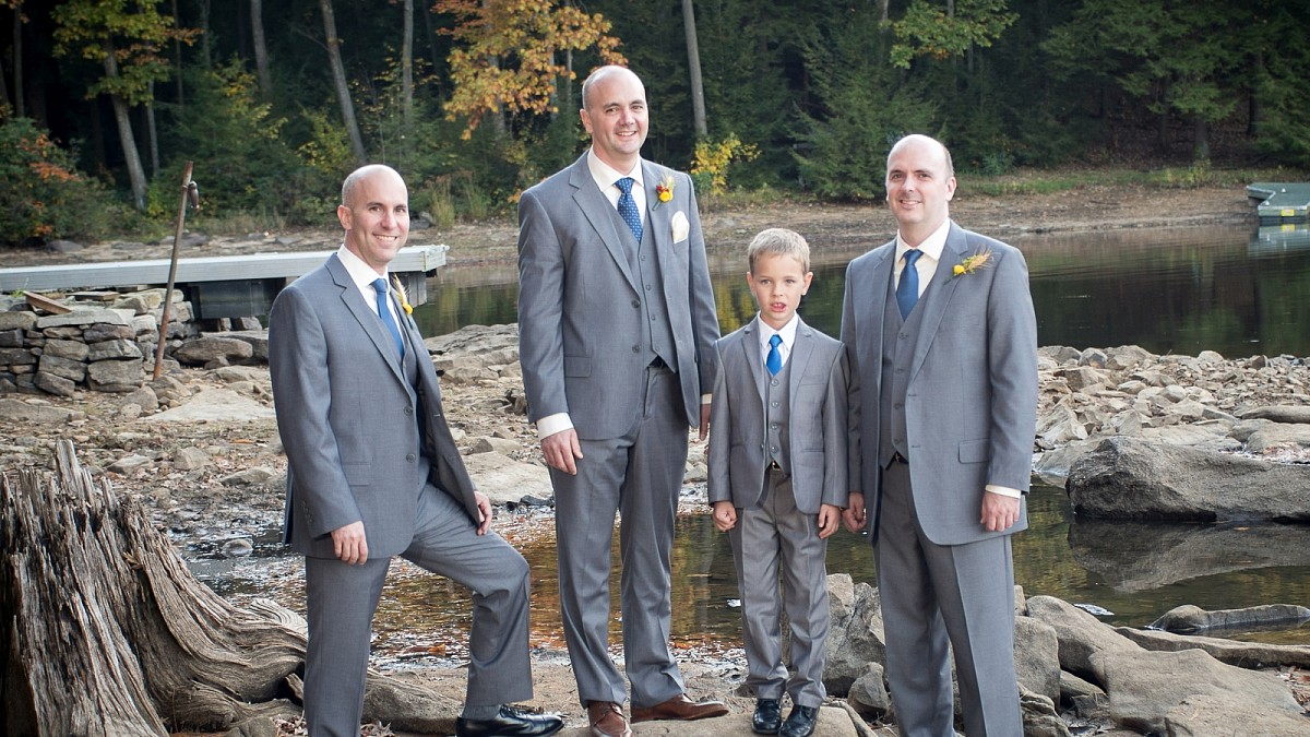 Grooms portraits by the lake with TLC Photography